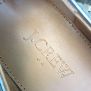 J. Crew Shoes - NWOT J. Crew silver metallic loafers sz 9